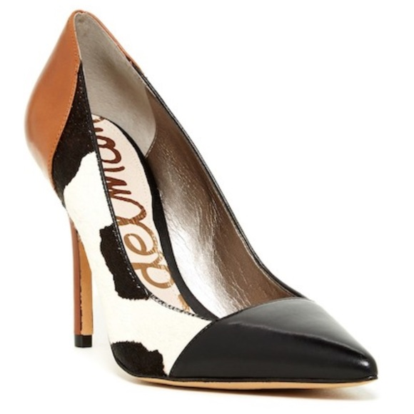 Sam Edelman Shoes   Desiree Genuine Cow Fur Pump   Poshmark 34e3c61cb9